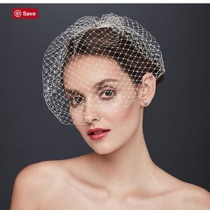 Russian tulle birdcage veil blusher